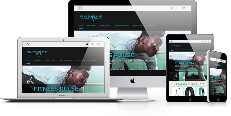 Fitness Pulse responsive design