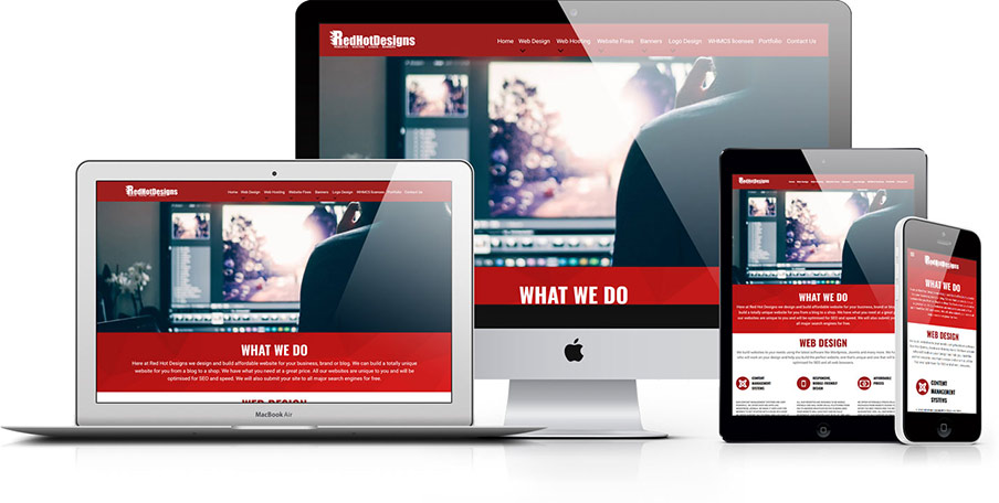 Red Hot Designs responsive design